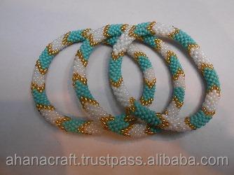 Nepal Roll On Beaded Bracelets Whole