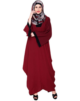 Wholesale Kaftan Burqa Fashion Moss Wine Kaftan Maxi Tunic Islamic Clothing