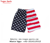 American Flag Sublimated Lacrosse Soccer Shorts