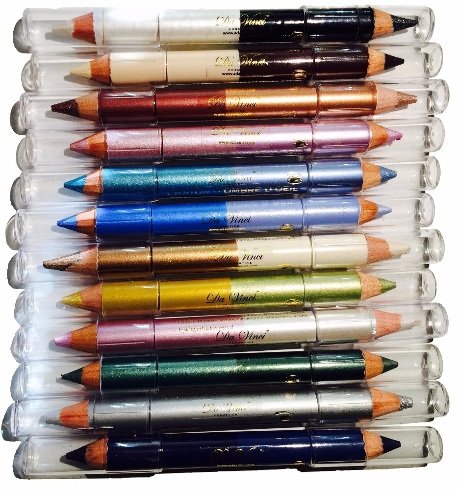 USA Da Vinci Crayon Mineral Eye Shadow Pencil - 24 colors in 12 pencils Collect them all!