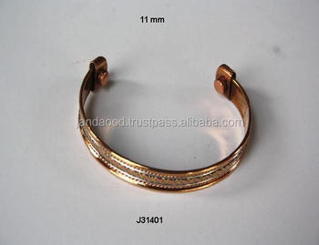 Three Metal Style Magnetic Copper Bracelet Wearing It Has Health Benefits