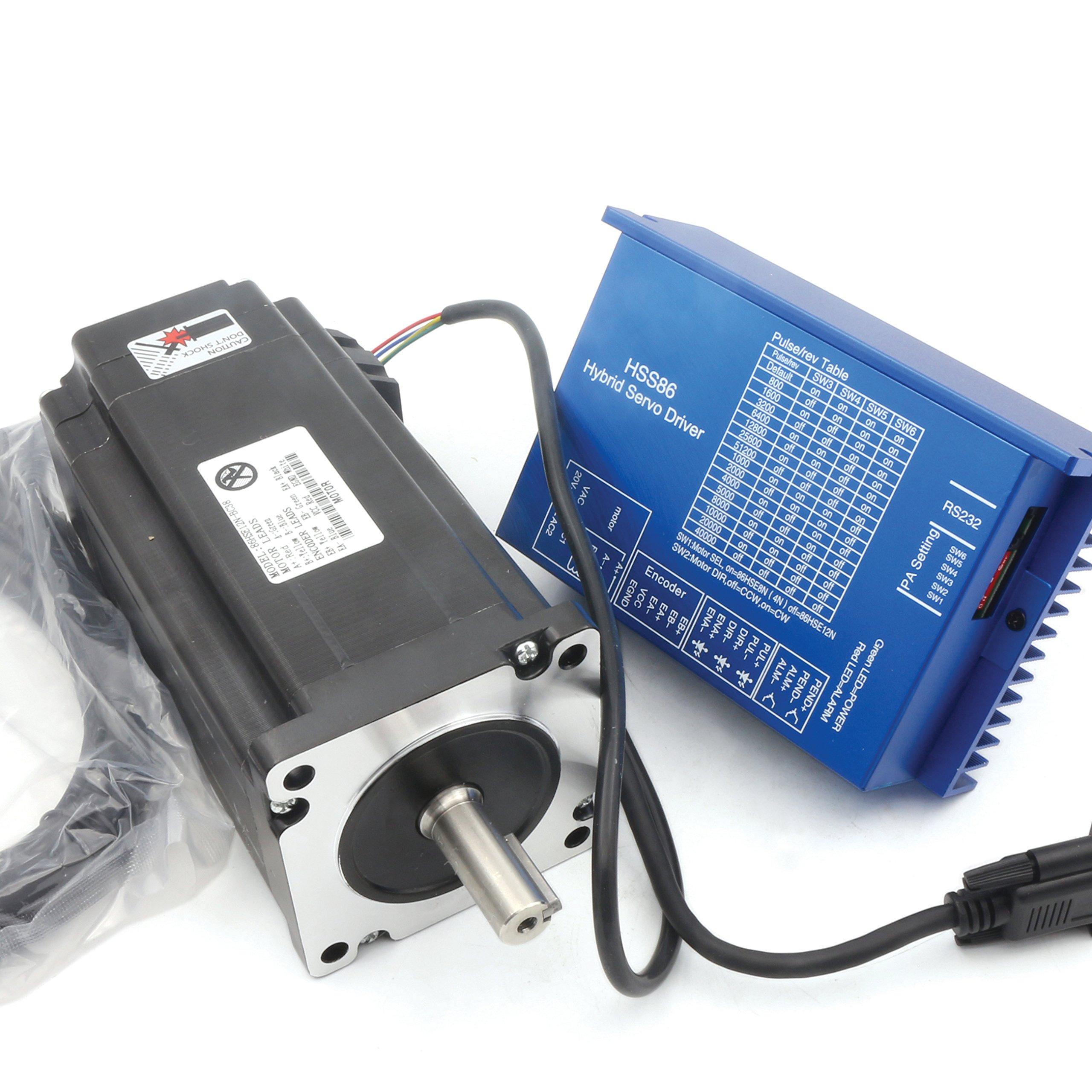 Buy Cnc 2hss86h Hybrid Closed Loop Stepper Servo Drive Driver 45nm Power Supply For Motor A May Nema34 12nm 154mm 6a 2 Phase