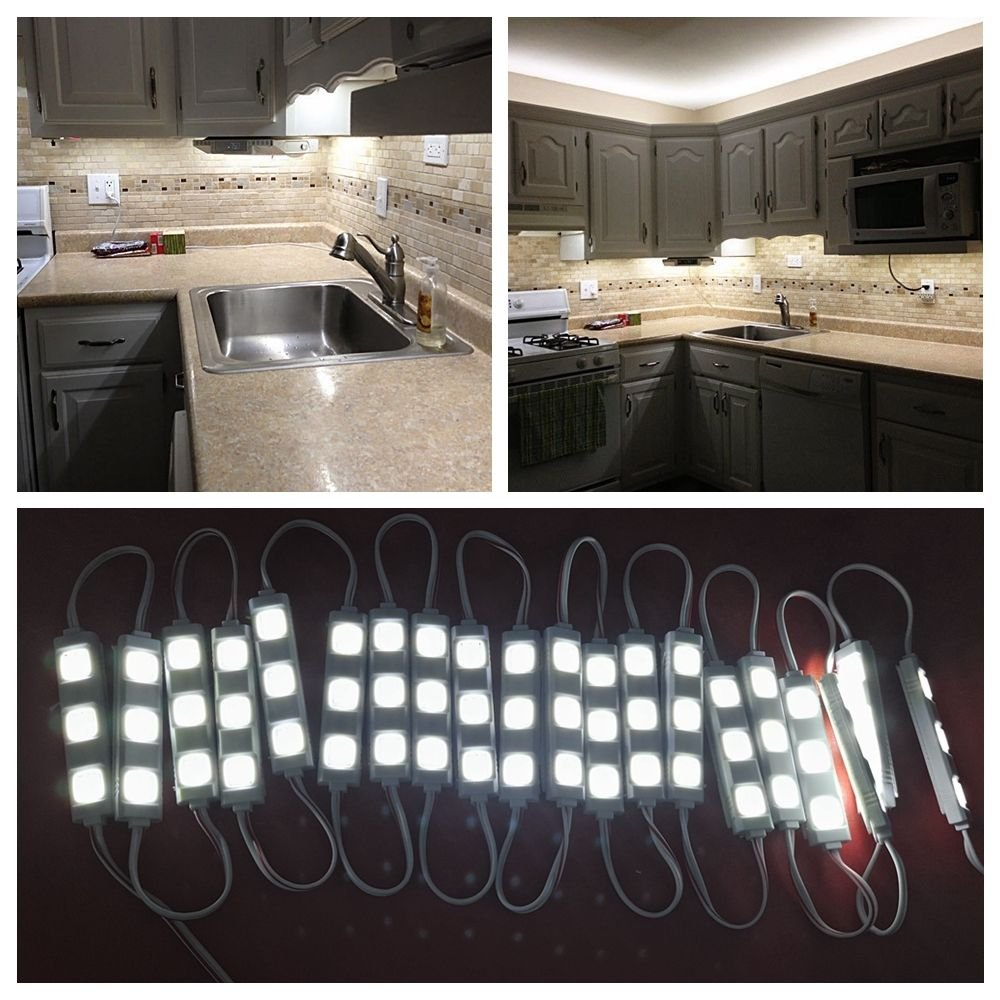 Cheap Counter Lights Find Deals On Line At Alibabacom Cupboard Circuit Get Quotations Keyola Full Set 10ft 60leds White Under Cabinet Closet Kitchen Led Light With Brightness