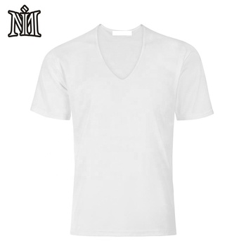 High quality cut and sew crew neck men's plain screen printing custom tee wholesale shirts