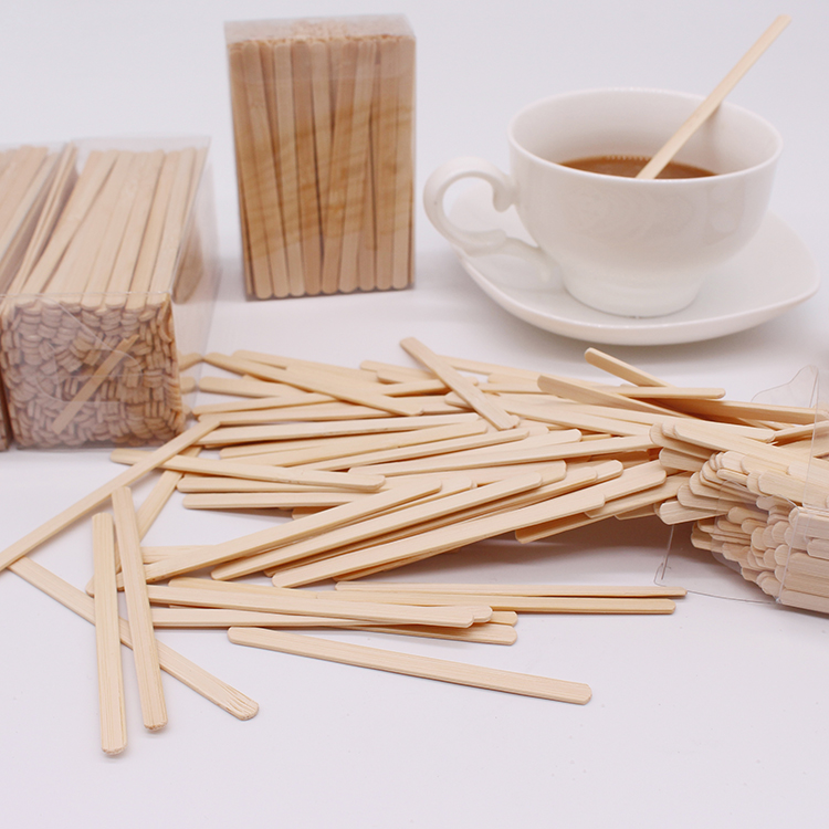 150mm desechable plana delgada de bambú palillo
