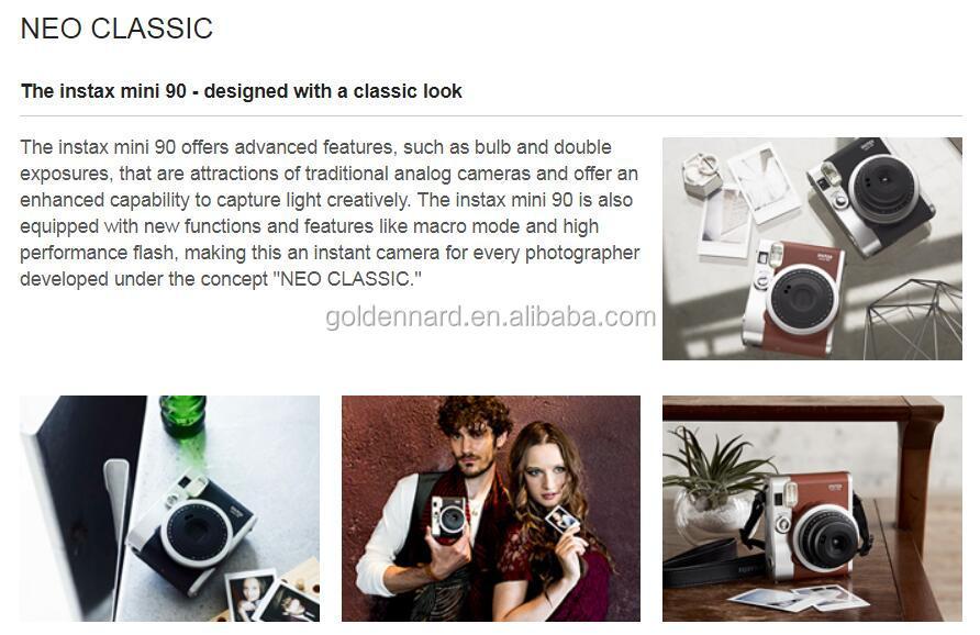 Fujifilm Instax mini 90 Instant Camera NEO CLASSIC Brown/Black