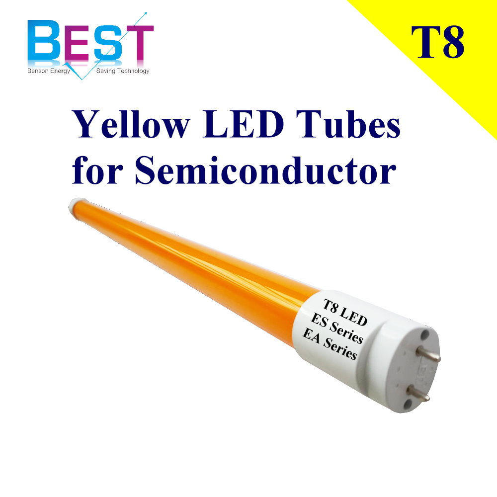 LED amarillo tubos T8 para semiconductores; no uv t8 amarillo Luz