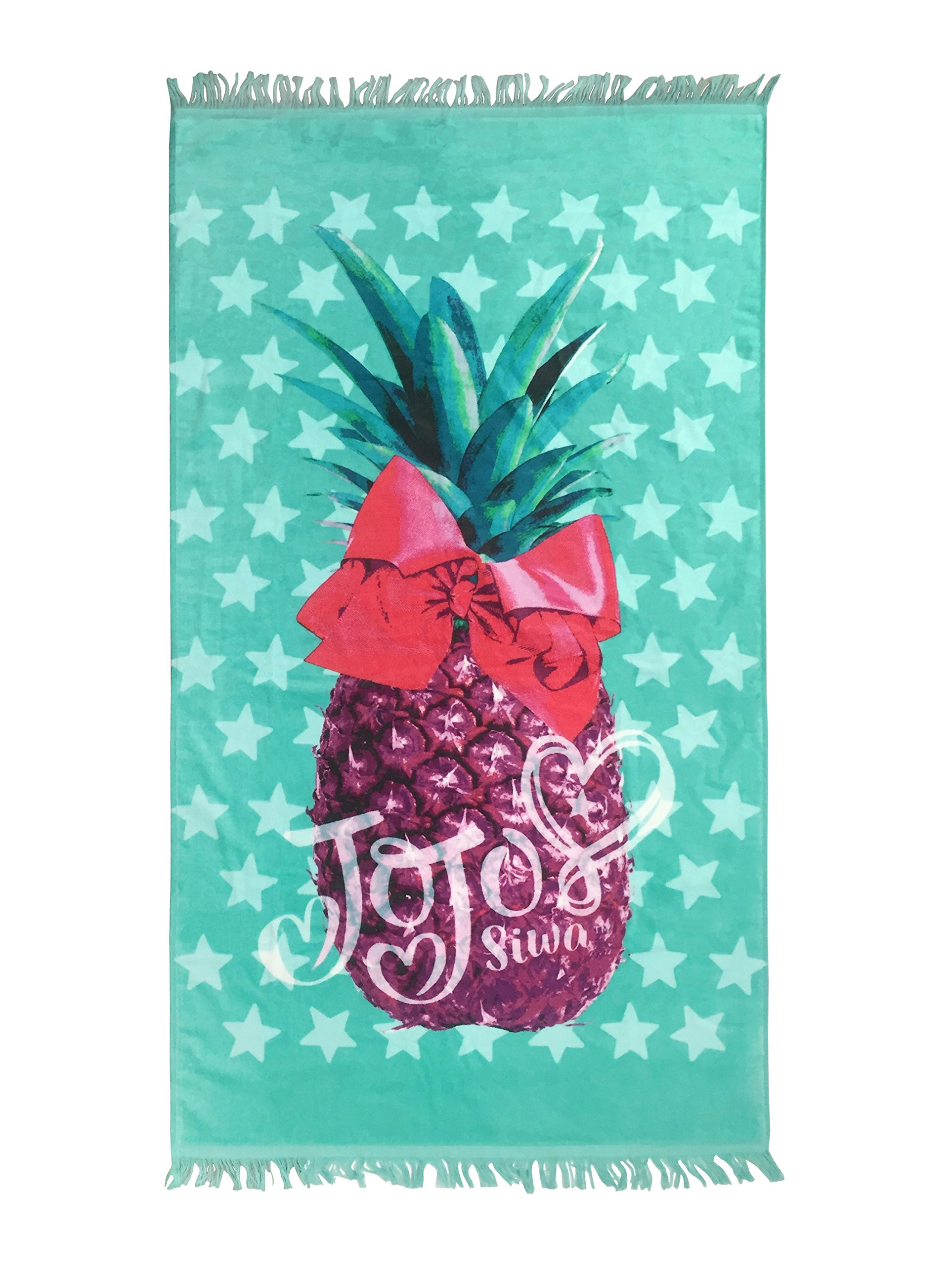 Nickelodeon JoJo Siwa Pineapple Teal Cotton Bath/Pool/Beach Towel (Official JoJo Siwa Product)