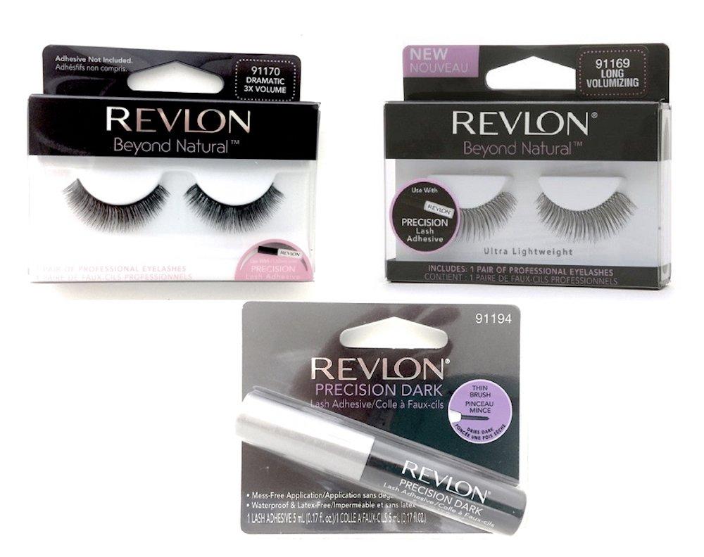 7b15761a768 Get Quotations · Revlon Precision Lash Adhesive-Beyond Natural Eyelashes -  3 pcs Bundle: Precision Lash Adhesive