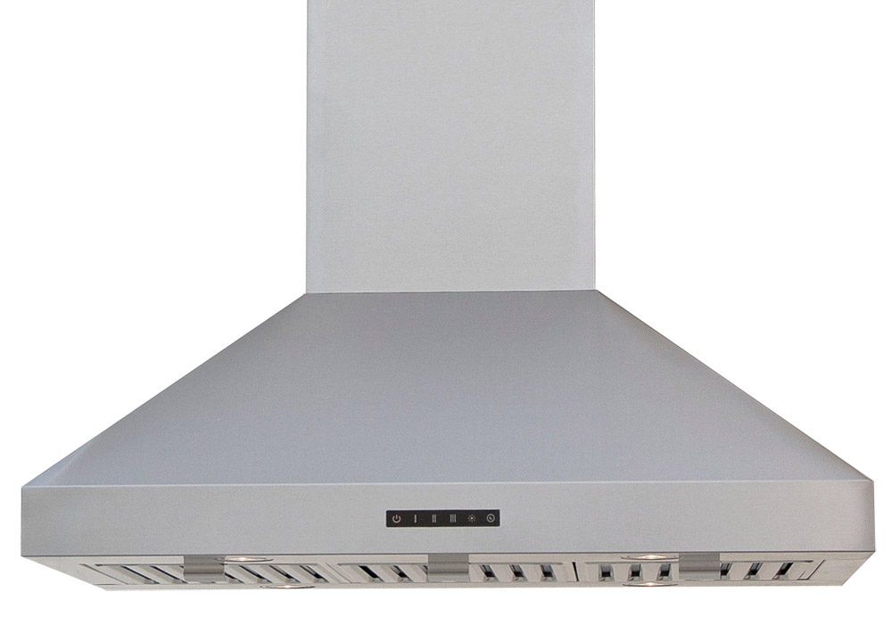 LED touch control island mounted range hood