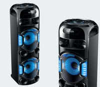 2019 newest BT party speaker double 12inch heavy bass with rechargeable battery