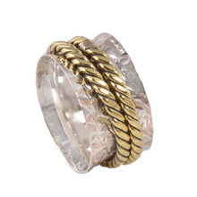 Royal Brand Look 925 Sterling Silver Copper Ring