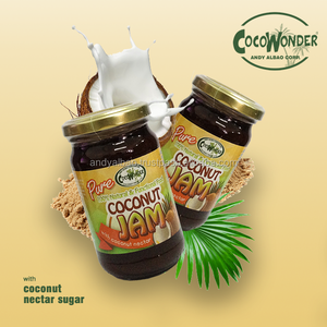 COCONUT JAM PURE - Low Glycemic Index , Coconut Milk & Coconut Nectar, Certified Organic USDA & EU