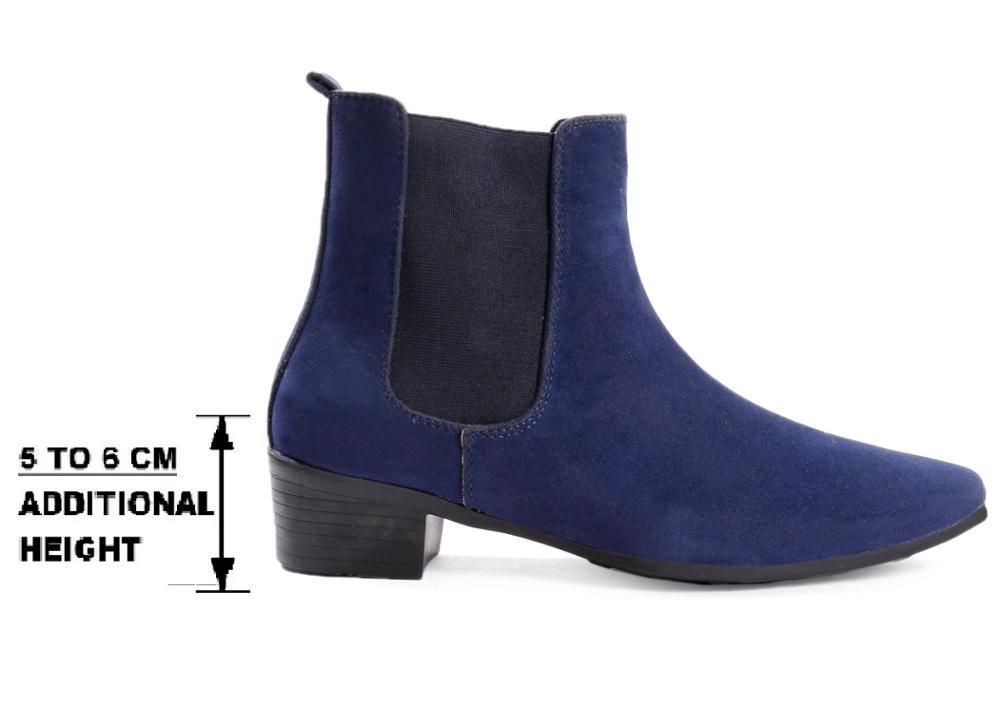 Height Increasing Elevator Men`s Chelsea Boots