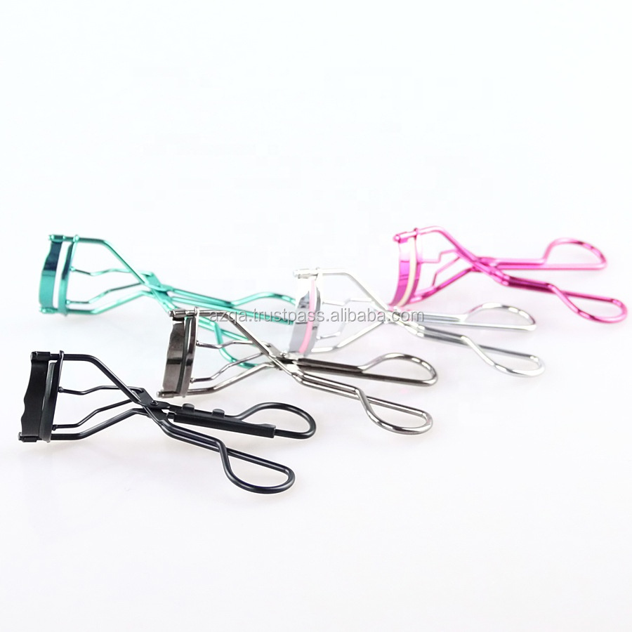 Professional makeup tool eyelash curler with silicon pads For Sale