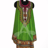 Dashiki print umbrella dress women