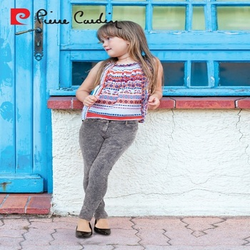 6edc1efd4a535 PIERRE CARDIN OEM KID'S GIRLS COLLECTION ELEGANT ACCESSORIZED GREY JEANS  TIGHTS LEGGINGS