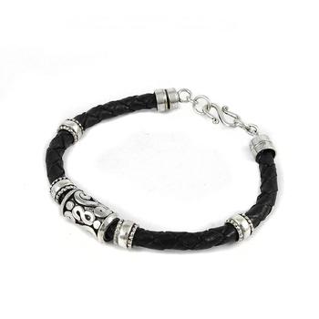 Trendy Design 925 Sterling Silver Pure Leather Men S Bracelets Buy