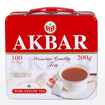best price Akbar Red and White Lunch Box /String & Tag type /Ceylon Tea from Ceylon