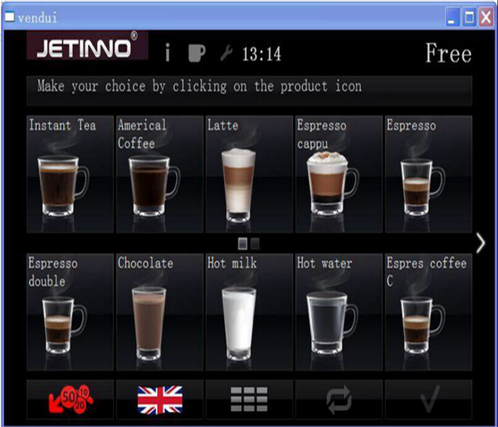 New automatic table coffee vending machine on sale
