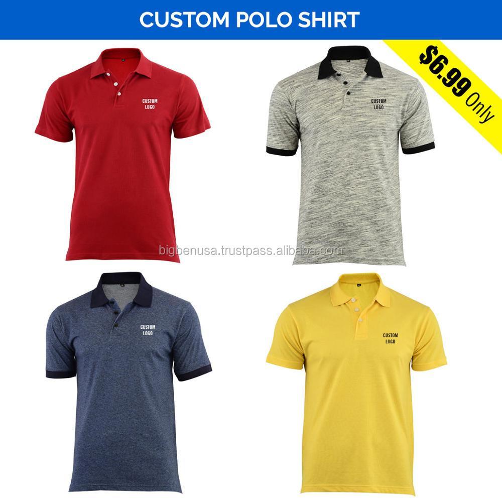 Venta al por mayor tejido de piqué de algodón impreso personalizado camisas  de Polo con Logo 28179ceeeefac