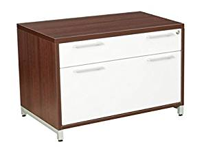 "Regency Low Box Lateral File Dimensions: 30""W X 20""D X 20""H Consistances Of One Box Drawer And One File Drawer 1"" Thick Desk Tops - Java"