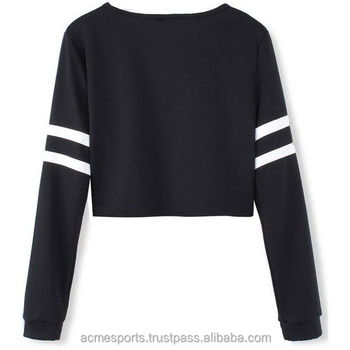 e1f347bc3e9b Ladies Crop Top Sweaters - Ladies Black Crop Top Sweaters Log ...