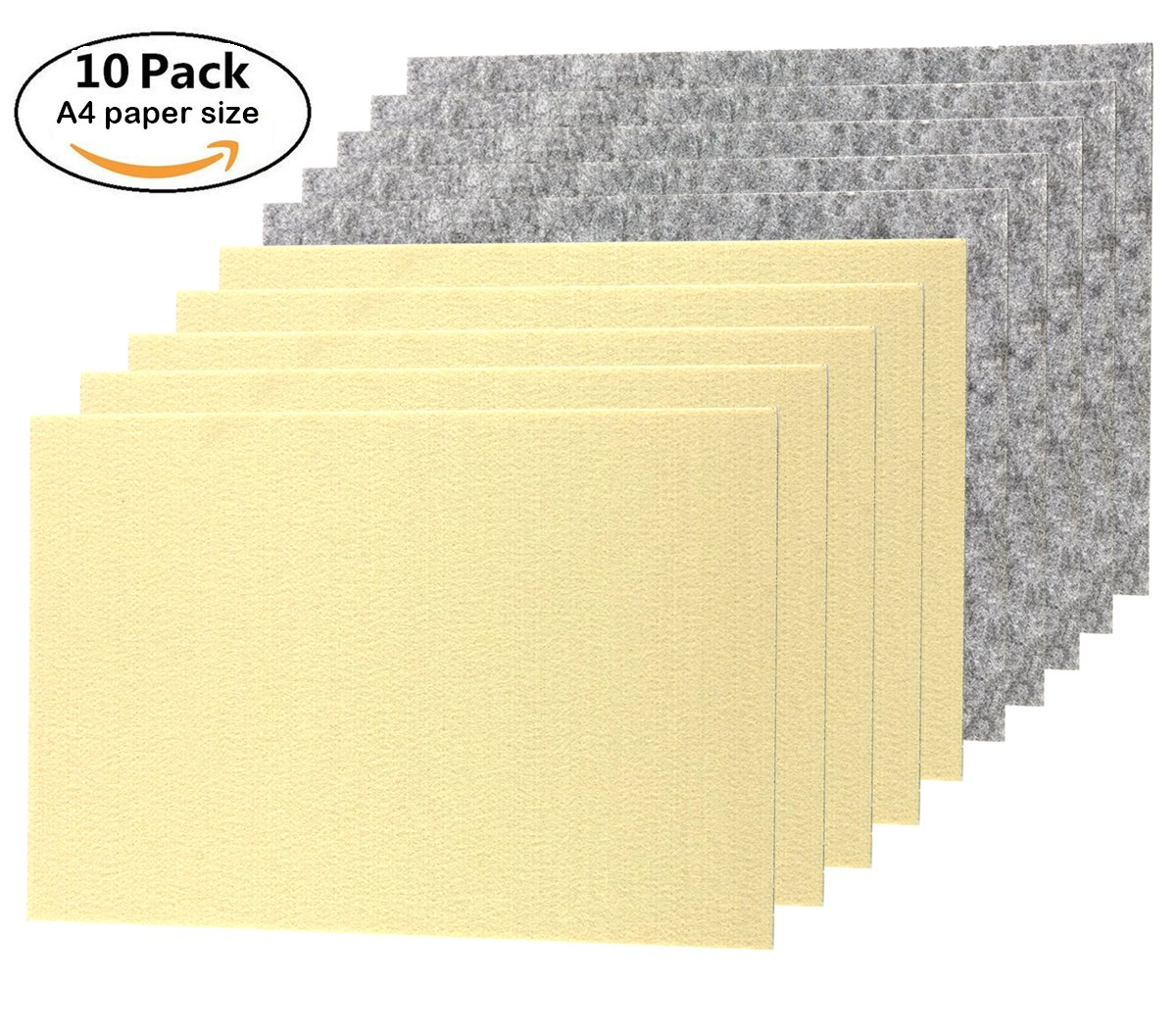 """TOOTACI Premium Furniture Felt Pads Set Self Adhesive Stick On Floor Protection,10 Pack Thick 1/5"""" Heavy Duty Felt Sheets 8 1/4"""" x 11 4/5""""! DIY Furniture Pads Protect Your Hardwood Flooring!"""