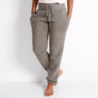 Top Quality 100% Cotton French Terry Fabric Gray Woman Jogger, Custom Jogger Pants, Jogger Sweatpants Blank