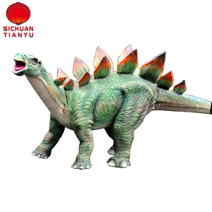 whole sale of decoration fiberglass cartoon character statue dinosaur living animals and various rare species for amusement park
