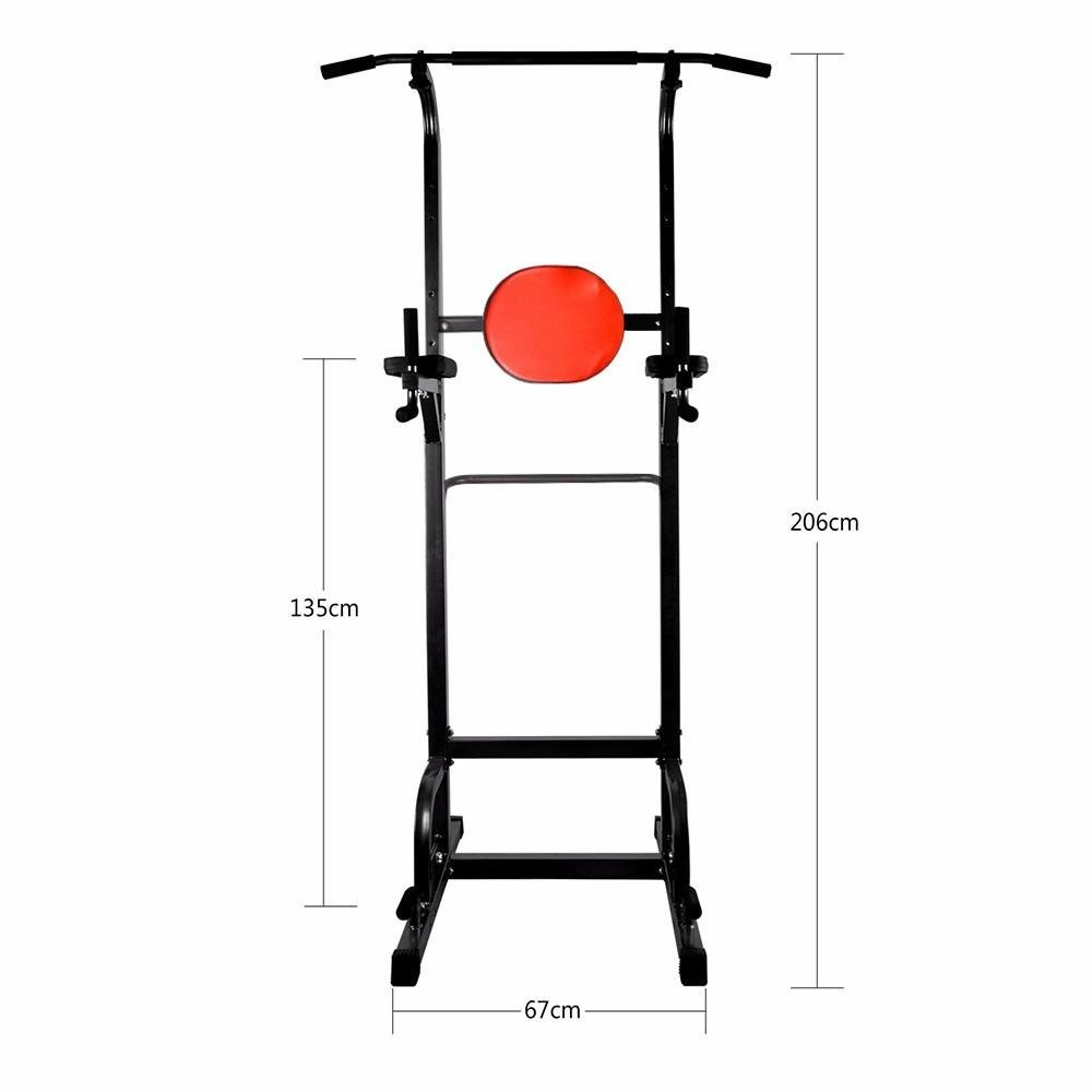 a5d65840cfd Get Quotations · Docheer Sports Power Tower Dip Station Pull Up Bar  Standing Tower Home Office Indoor Outdoor