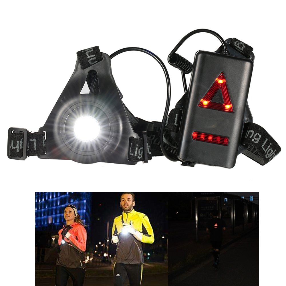 Safety Warning Chest LED Light Camping Sports Night Running Waterproof Light for Night Runners Jogging Dog Walking Camping etc Running Light Lamp