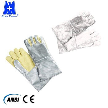 Coated welding hand glove heat resistant