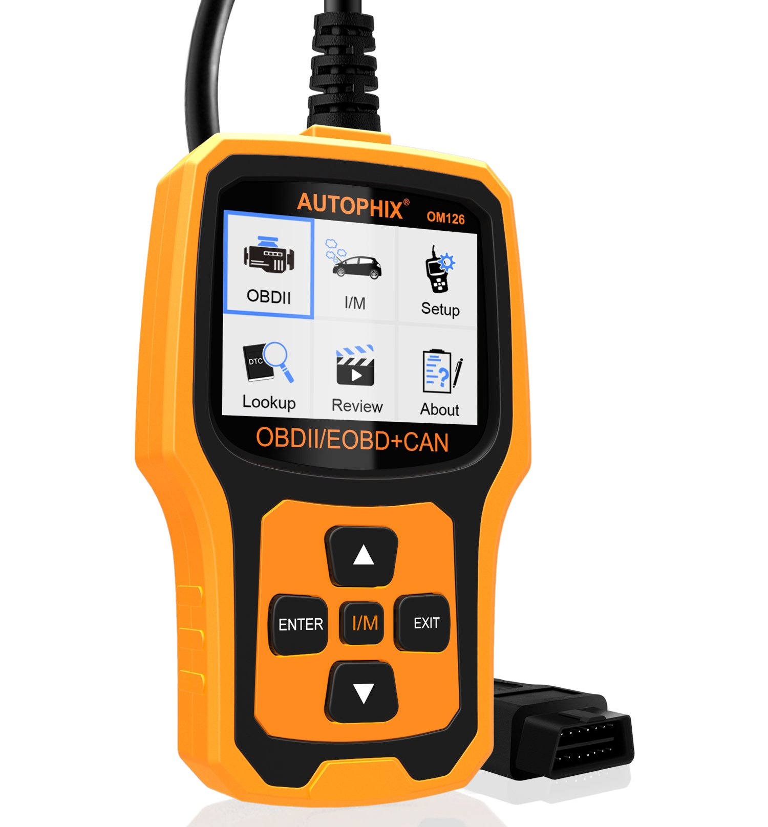 Get Quotations · AUTOPHIX OBD2 Scanner Auptohix OM126 EOBD OBDII Car  Diagnostic Scan Tool Fault Code Reader Reset Engine