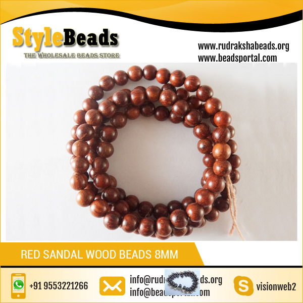 Best Quality Prayer Beads Red Sandal Wood Beads 8mm