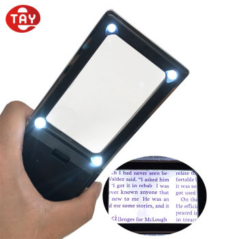 Rectangular Pocket LED Light Magnifier for Reading