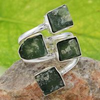 Frequent charm 925 sterling silver moldavite gemstone gemstone ring jewelry indian handmade silver ring