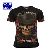 skull fancy ladies printed t-shirt sublimation