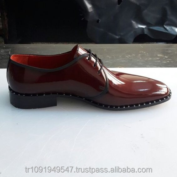 Leather Men Shoes Genuine Best Laced Handmade Dress Leather Shoes Quality 0dvwFnR
