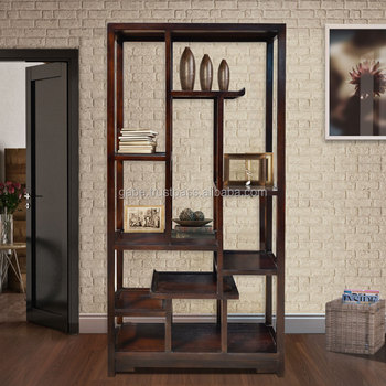 Book Rack Oriental Dark Colour Mahogany Wood Furniture Buy