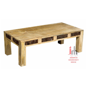 Low Height Wood Carving Premium Quality Coffee Table