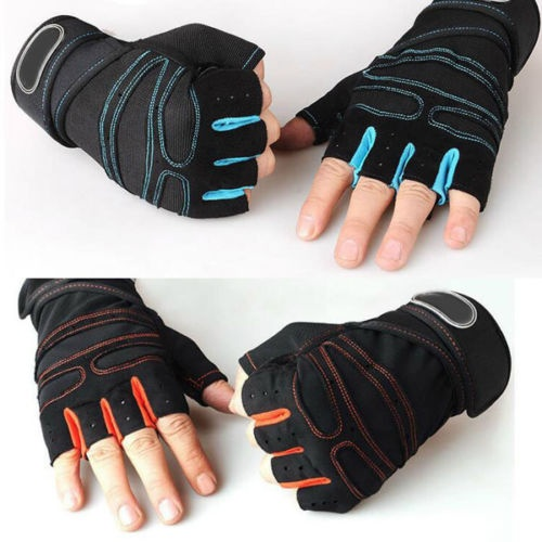 Sports hands protective color trim neoprene weight lifting gym gloves