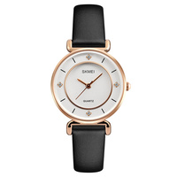 skmei 1330 quartz luxury diamond leather ladies watches women