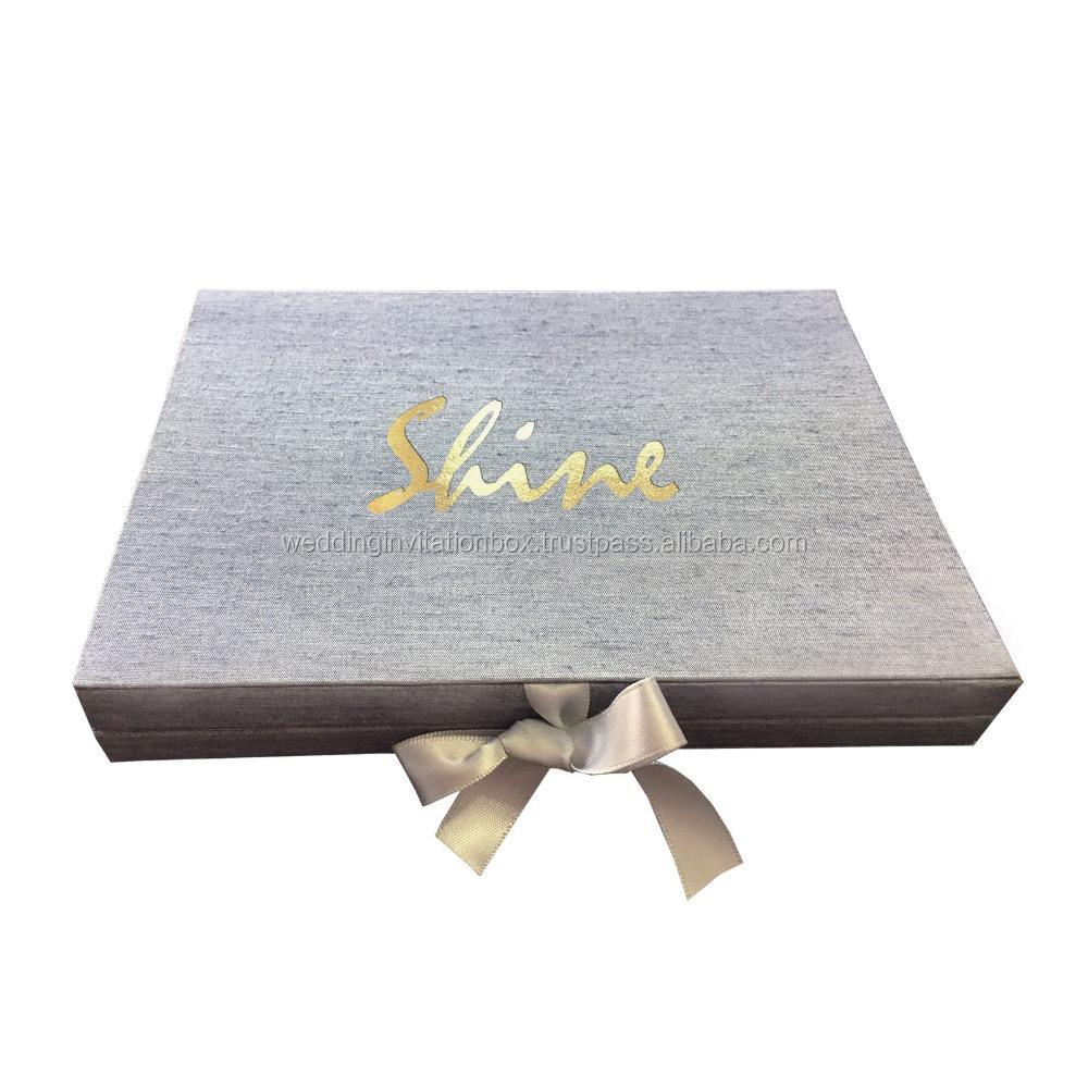 Luxus Logo Stempel Karton Papier Box Prage