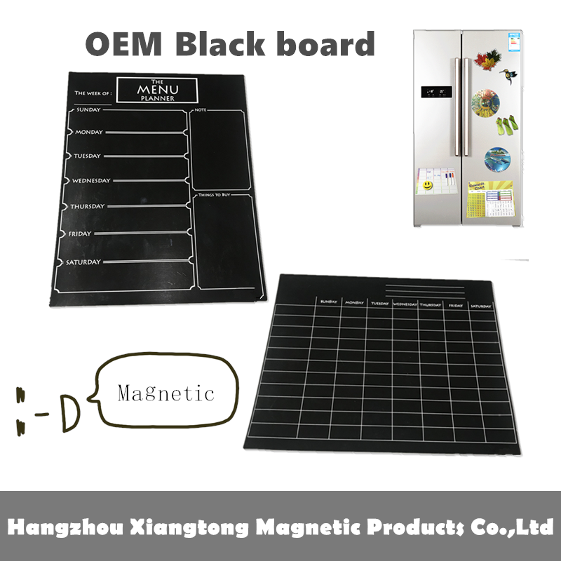 Oem Magnétique Réfrigérateur Calendrier Effaçable À Sec Noir ...