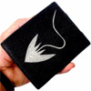 REAL STINGRAY FISH SKIN BLACK LEATHER MENS FOLD WALLET STING RAY GENUINE