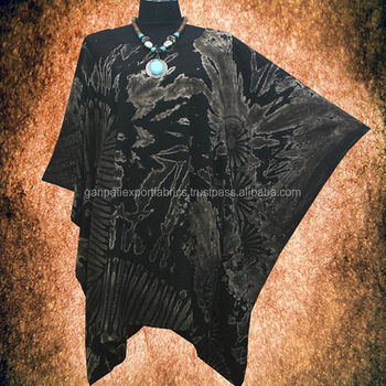 New Wearable Art Tie dye Beach Cover Up Poncho Top