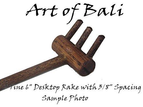 Art of Bali Zen Garden Rake Three Tine Desktop Rake - Zen Gardens