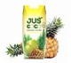 Pineapple juice with coconut water in prisma pack