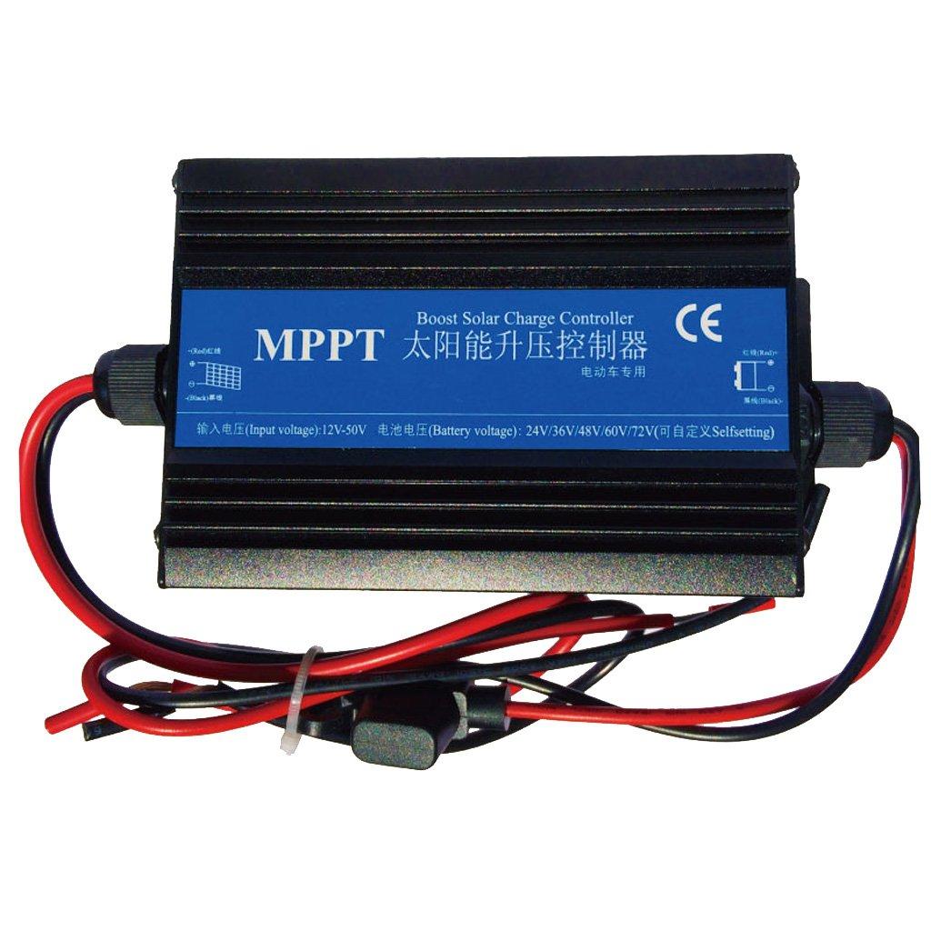 MonkeyJack Waterprrof 24V-72V MPPT Boost Solar Panel Battery Charge Controller Regulator Intelligent , LED indicator Blue